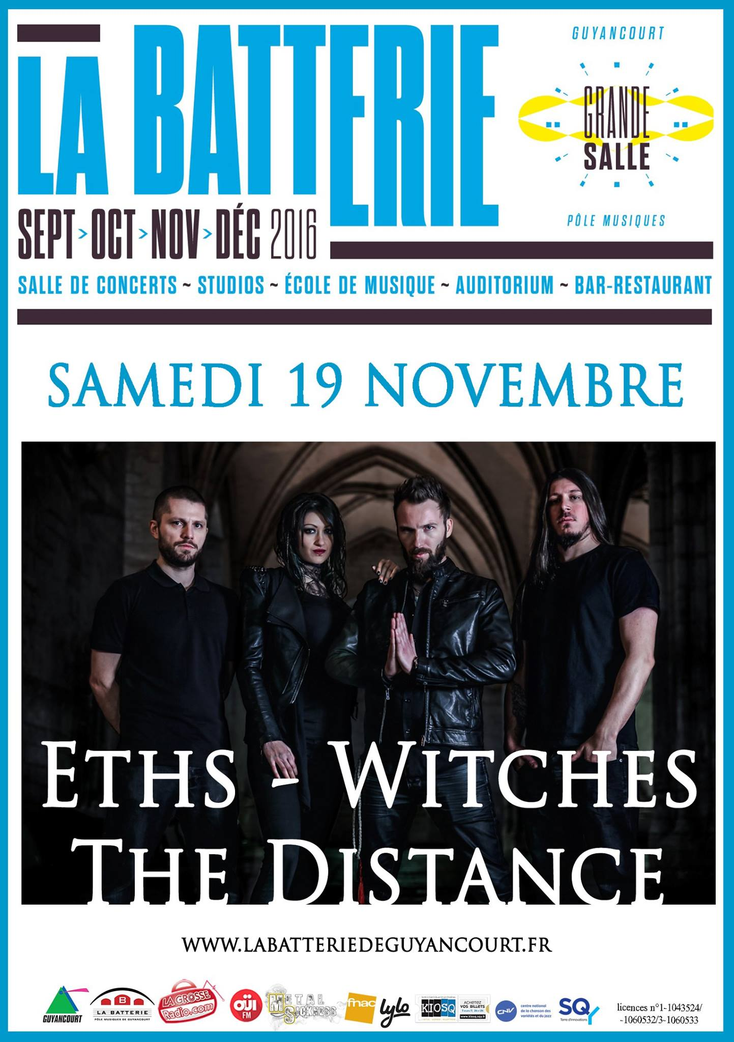 Witches flyer Eths + WITCHES + The Distance (concert report� du 19-03-2016) @  La Batterie Guyancourt (78-France)