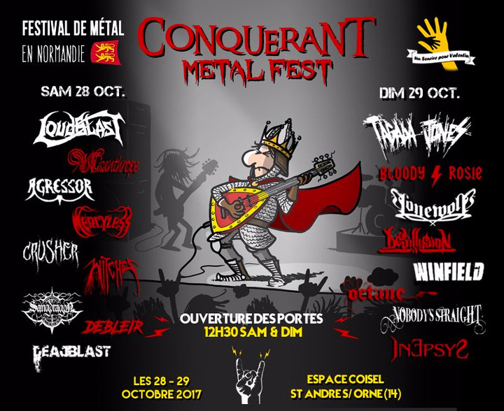 Witches flyer Loudblast + Agressor + Misanthrope + Crusher + Witches + Mercyless + Sangdragon + Debleir + DeadBlast @ Conquérant Metal Fest 2017 Espace Coisel Saint André sur Orne (14)