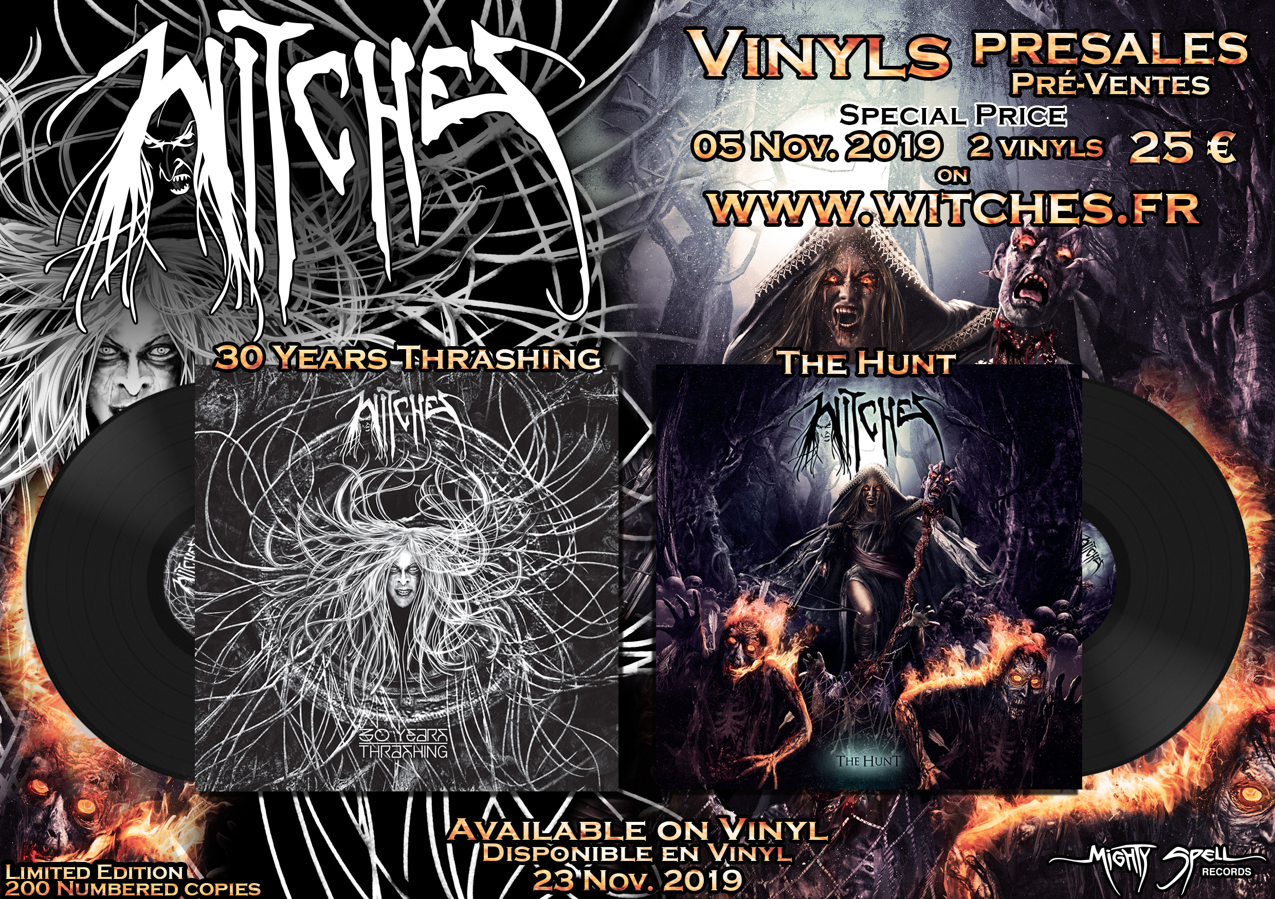 Witches Vinyls presales The Hunt 30 Years Thrashing