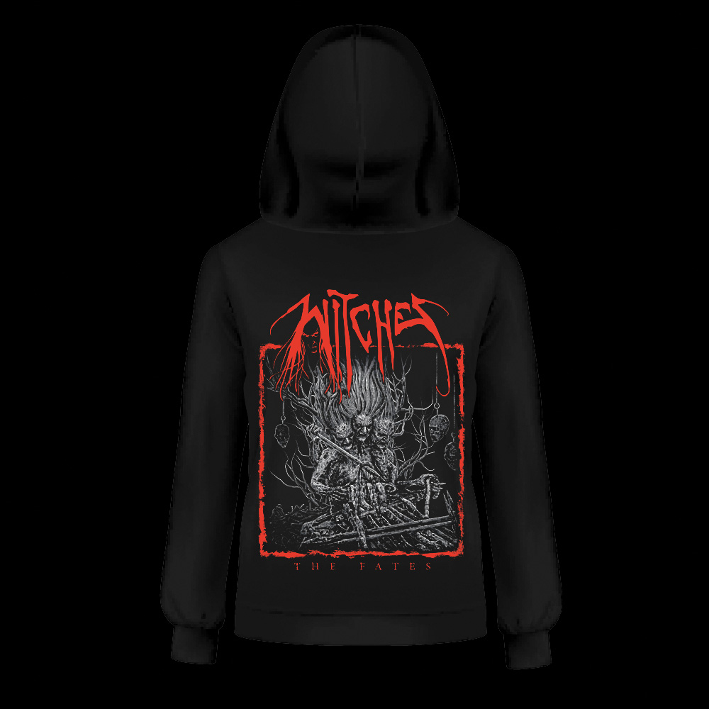 Witches zipped Hoodies The Fates Back