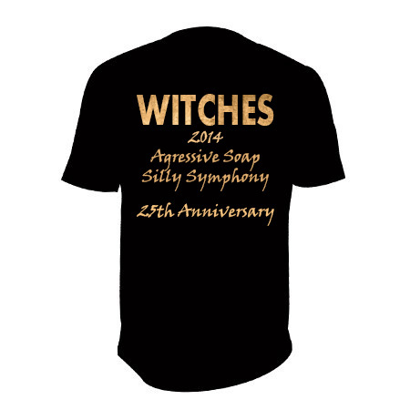 Witches Agressive Symphony T.Shirt Back 25th Anniversary
